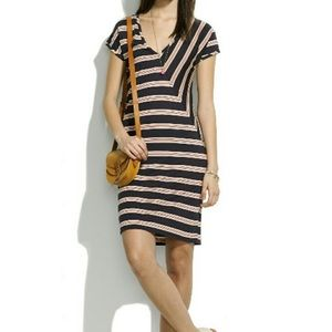 Madewell bodycon striped dress